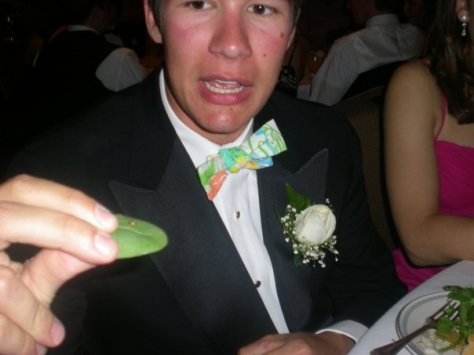 Me finding a snail in my salad at Prom (2008)