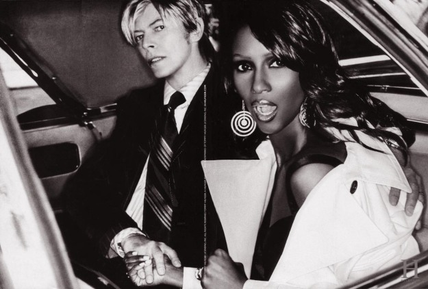 David Bowie and Iman for H Hilfiger