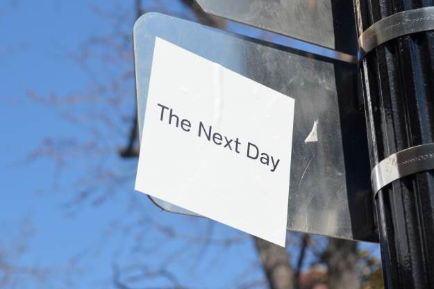 Sticker promoting David Bowie's 'The Next Day' in Georgetown